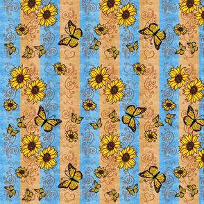 SunflowerMonarchMemoriesOrange