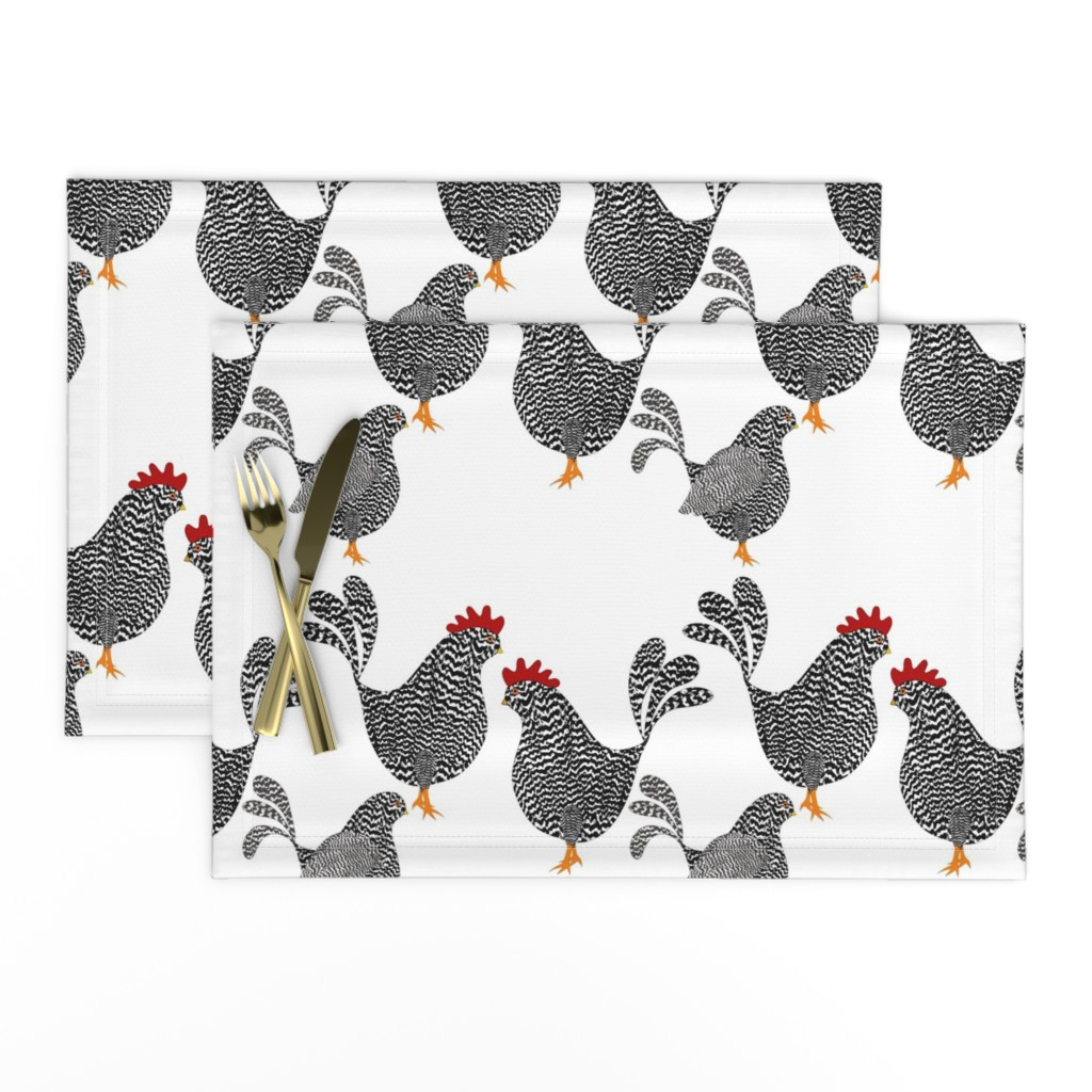 Lamona Cloth Placemats featuring Chick, Chick, Chickens by vo_aka_virginiao
