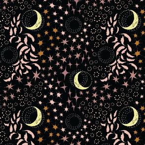 Moon Among the Stars - Desert Pinks Version
