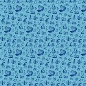 A Noble Kitty - blue mini
