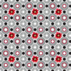 Retrocentric Poppy Circles Grey