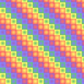 Rainbow Squares Pastel