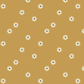 Granny Chic Flower (large scale) - Gold