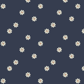 Granny Chic Flower (large scale) - Navy