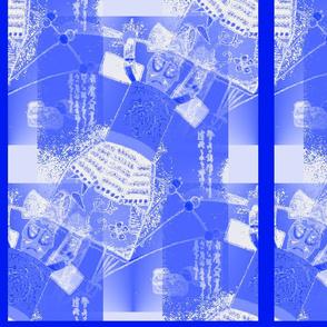 Japanese Doll Tiles - Blue