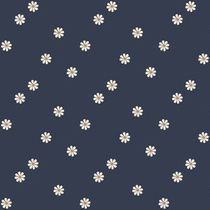 Granny Chic Flowers (small scale) - Navy