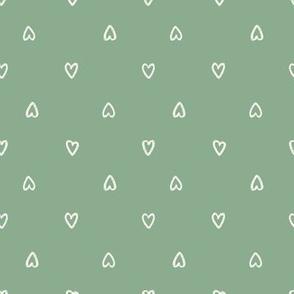 Bone Hearts on Jade