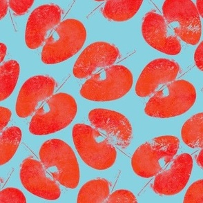 teatowel blockprint apple