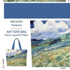 Van Gogh Tote bag // Provence cut and sew panel