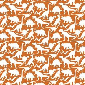 Little Dinosaur  Friends -orange white smaller
