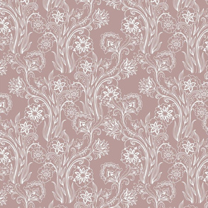 Floral - Pale pink mocha - Rosy Brown tone companion