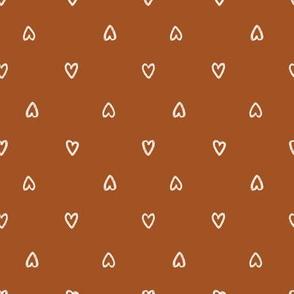 Bone Hearts on Copper