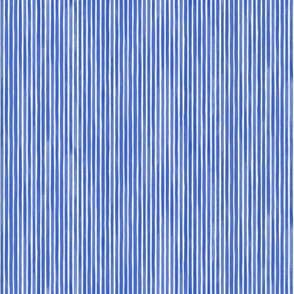 Vertical Watercolor Mini Stripes M+M Cobalt by Friztin
