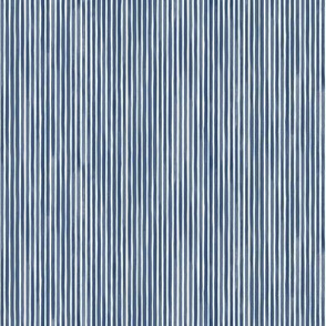 Vertical Watercolor Mini Stripes M+M Navy Blue by Friztin