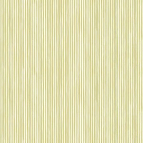 Vertical Watercolor Mini Stripes M+M Olive by Friztin