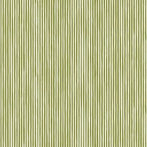 Vertical Watercolor Mini Stripes M+M Grass by Friztin