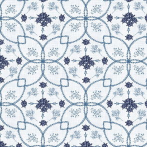 Chinoiserie Blue Flowers