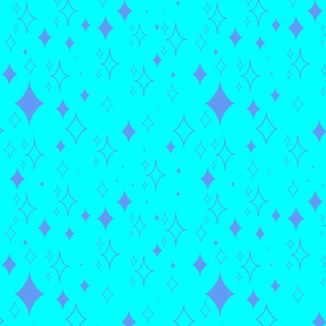 Kawaii Diamond Stars- Blue and Purple