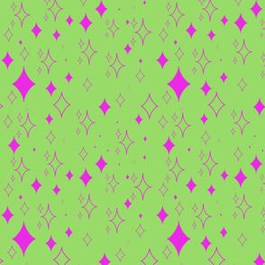 Kawaii Diamond Stars- Pink And Green