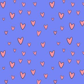 Kawaii pastel hearts- Purple
