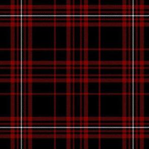"MacDonell of Glengarry red tartan, 6""  black ground"