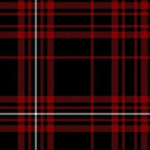 "MacDonell of Glengarry red tartan, 10"" black"