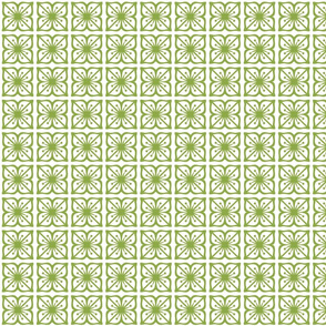 Square Green Flowers