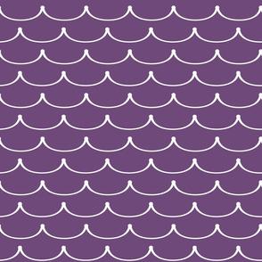 Princess Ruffles Plum Purple