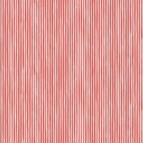 Vertical Watercolor Mini Stripes M+M Goji by Friztin