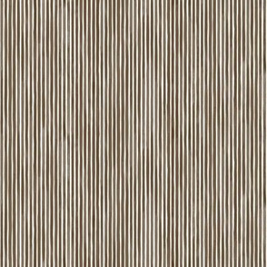 Vertical Watercolor Mini Stripes M+M Coffee by Friztin