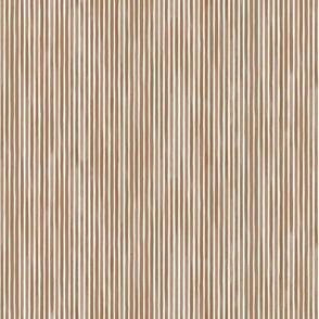 Vertical Watercolor Mini Stripes M+M Cocoa by Friztin