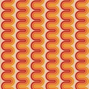 warm disco swirls - small