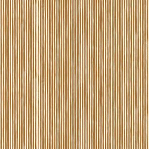 Vertical Watercolor Mini Stripes M+M Cinnamon by Friztin