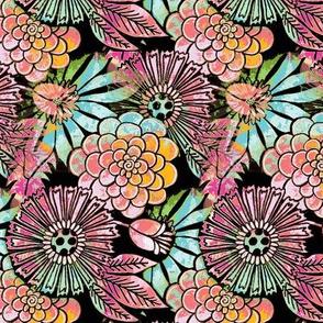 retro flowers pastel