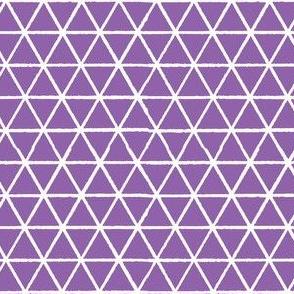 Triangles - White on Purple