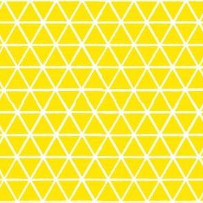 Triangles - White on Yellow
