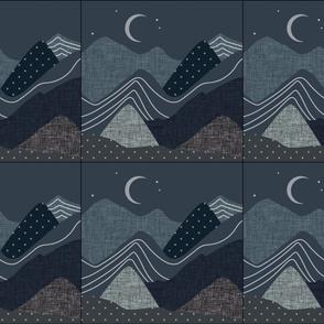 6 loveys: slate and nautilus layered mountains