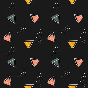 Modern 80's Geometric - Dark, Neutral