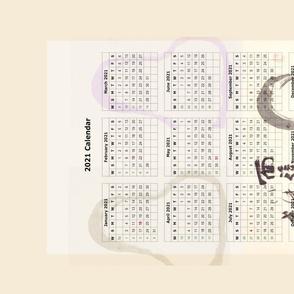 2021 Tea towel  Calendar - Zen