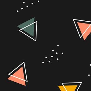 Modern 80's Geometric - Large, Dark, Neutral