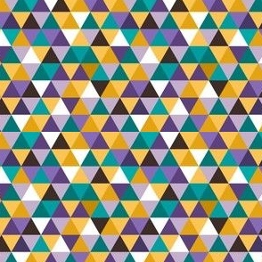 Triangles in Teal, Purple, and Goldenrod