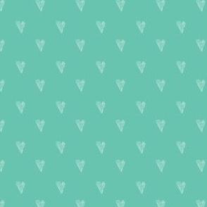 small mint hearts