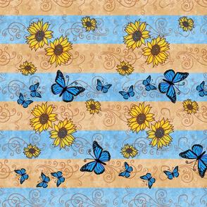 Sunflower Memories Tea Towels