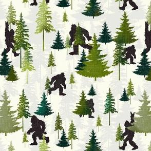 Hide and seek Bigfoot green