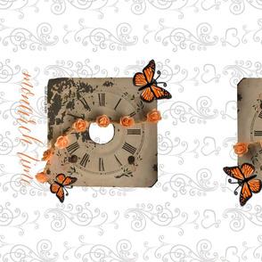 Clock Butterfly Tea Towel