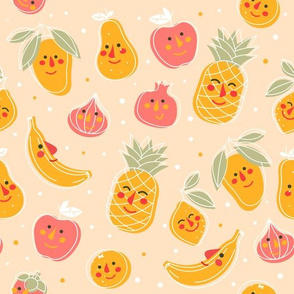 Funny and cute fruits