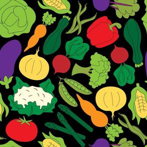 Garden Vegetables - Black