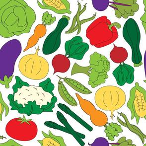 Garden Vegetables - White
