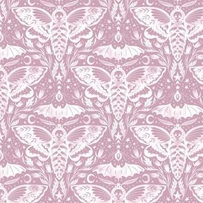 Skull Moth Damask - Inv. Lilac