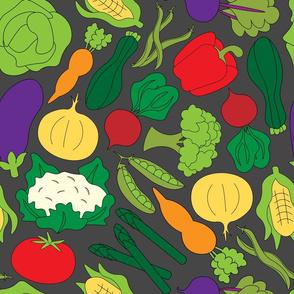 Garden Vegetables - Grey
